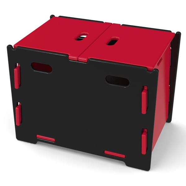 Legare Kids Red/ Black Toy Box