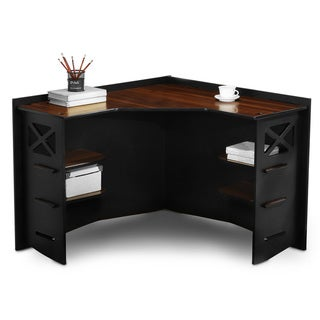 Legare Reversible Ebony/ Walnut Corner Desk