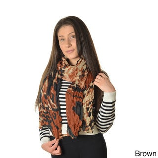 LA77 Women's Abstract Cheetah -print Scarf