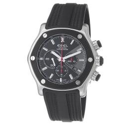 Ebel Men's 9137L83/5335606 '1911 Tekton' Black Dial Rubber Strap Chronograph Watch