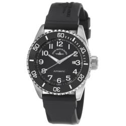 Zeno Men's 'Divers' Water-resistant Black Dial Black Rubber Strap Automatic Watch