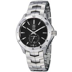 Tag Heuer Men's WAT2110.BA0950 'Link' Black Dial Stainless Steel Automatic Watch