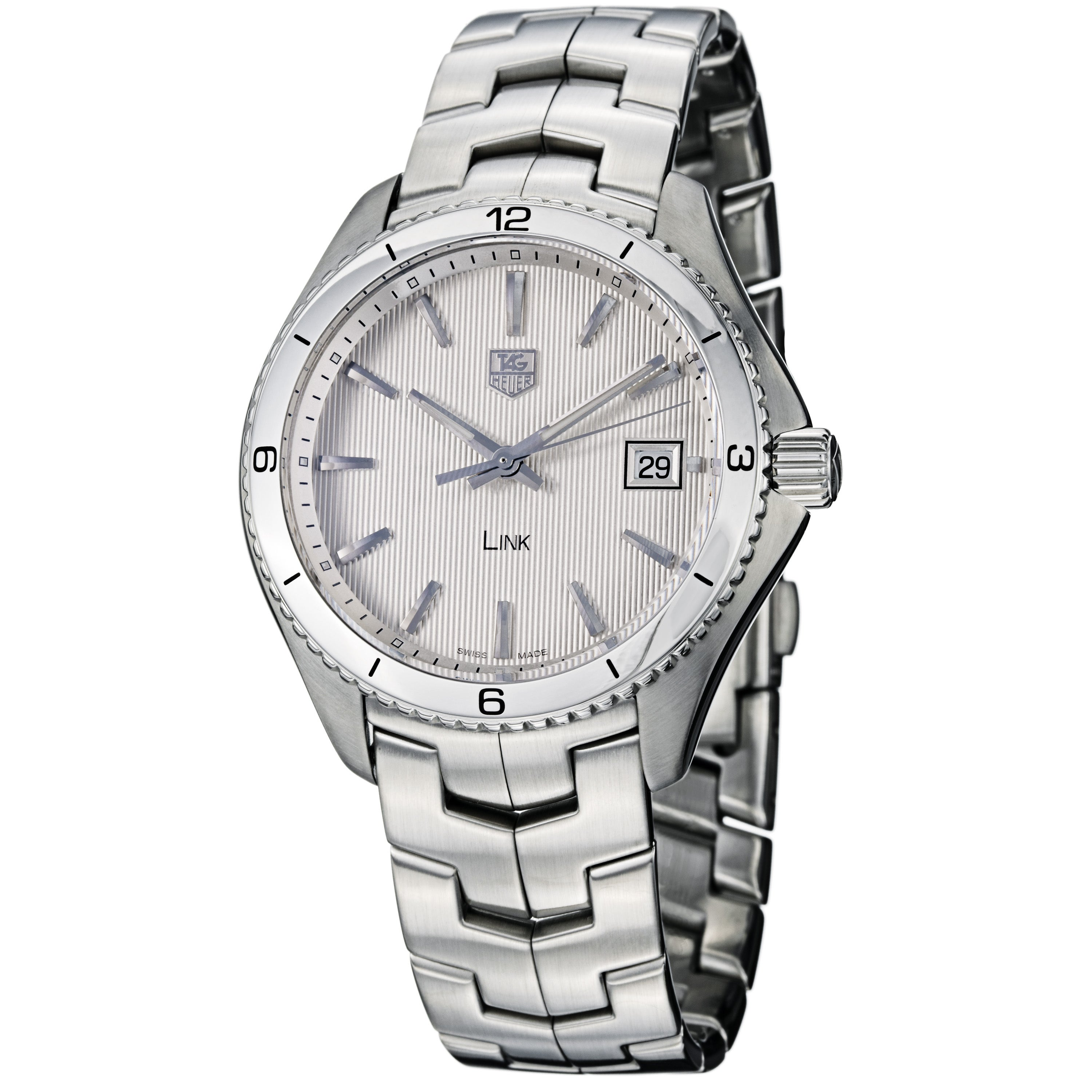 Tag Heuer Men's WAT1111.BA0950 'Link' Silver Dial Stainless Steel Quartz Watch