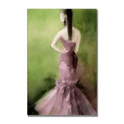 Beverly Brown 'Mauve Evening Gown' Gallery-Wrapped Canvas Art