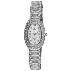 Burgi Women's Diamond Oval Quartz Bracelet Watch