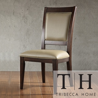 Tribecca Home Arendal Vinyl Chairs (Set of 2)