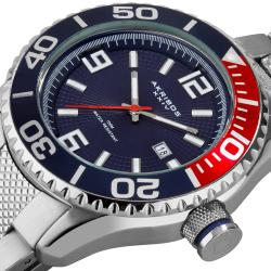 Akribos XXIV Men's Stainless Steel Large Diver's Watch