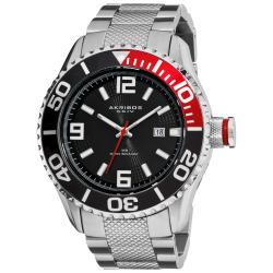Akribos XXIV Men's Silver-Tone Stainless Steel Large Diver's Watch