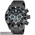 Stainless-steel Akribos Men's Large Diver's Chronograph Bracelet Watch