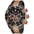 Akribos Men&#39;s Large Diver&#39;s Chronograph Bracelet Watch