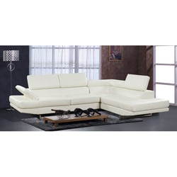 Rivera White 2-piece Bonded Leather Sectional