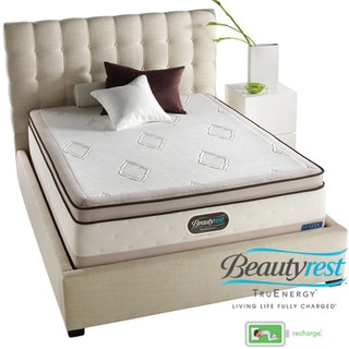 Beautyrest TruEnergy Katelynn Evenloft Plush Firm Euro Top Cal King-size Mattress Set
