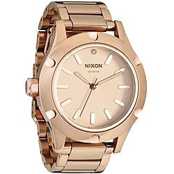 Nixon Men's 'Camden' Rose-goldtone Analog Watch