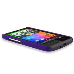 BasAcc Purple Rear Rubber Coated Case for HTC Inspire 4G/ Desire HD