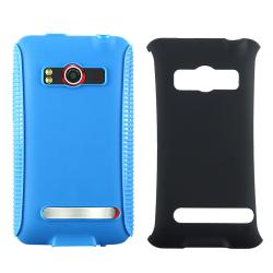 BasAcc Blue TPU/ Black Hard Hybrid Case for HTC EVO 4G