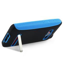 INSTEN Blue TPU/ Black Hard Plastic Hybrid Phone Case Cover for HTC EVO 4G