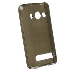 BasAcc Clear Smoke Argyle TPU Rubber Skin Case for HTC EVO 4G