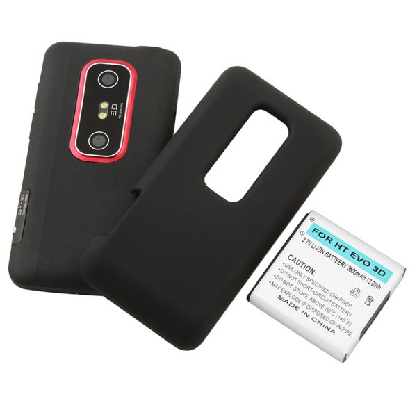 BasAcc Extended Li-Ion Battery with Cover for HTC EVO 3D