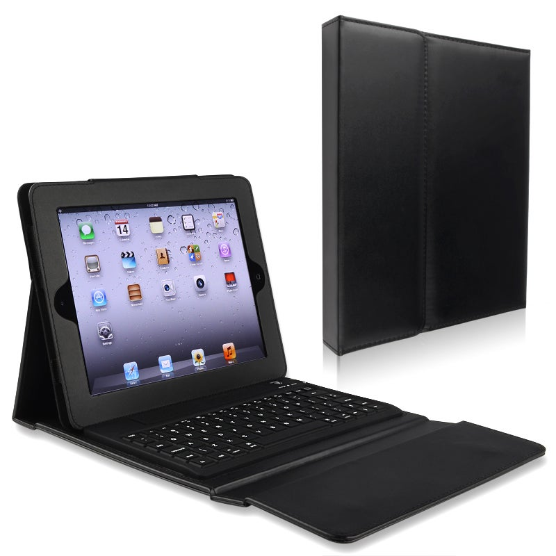 INSTEN Leather Tablet Case Cover Stand with Bluetooth Keybord for Apple iPad 2