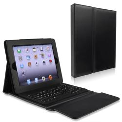 Leather Case Stand with Bluetooth Keybord for Apple iPad 2