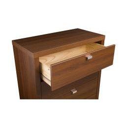 Valhalla Designer Series Medium Brown Walnut 5-Drawer Chest