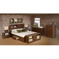 Valhalla Designer Series Medium Brown Walnut 5-Drawer Chest