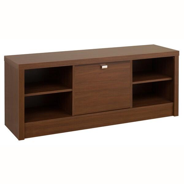 Medium Brown Walnut Valhalla Designer Series Cubbie Bench with Door