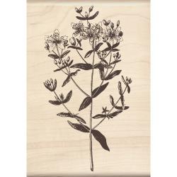 Inkadinakdo 'Large Stemmed Flower' Mounted Rubber Stamp