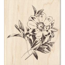 Inkadinkado 'Large Flower' Mounted Rubber Stamp