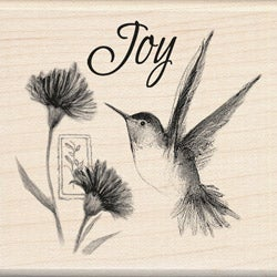 Inkadinkado 'Hummingbird Joy' Mounted Rubber Stamp