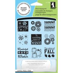 Inkadinkado 'Four Seasons' Inchie Clear Stamps