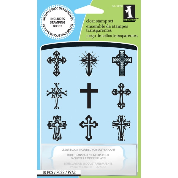 Inkadinkado 'Crosses' Inchie Clear Stamps