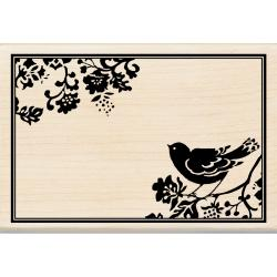 Inkadinkado 'Bird Frame' Mounted Rubber Stamp