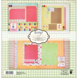 Childish Things Page Layout Kit 12X12in