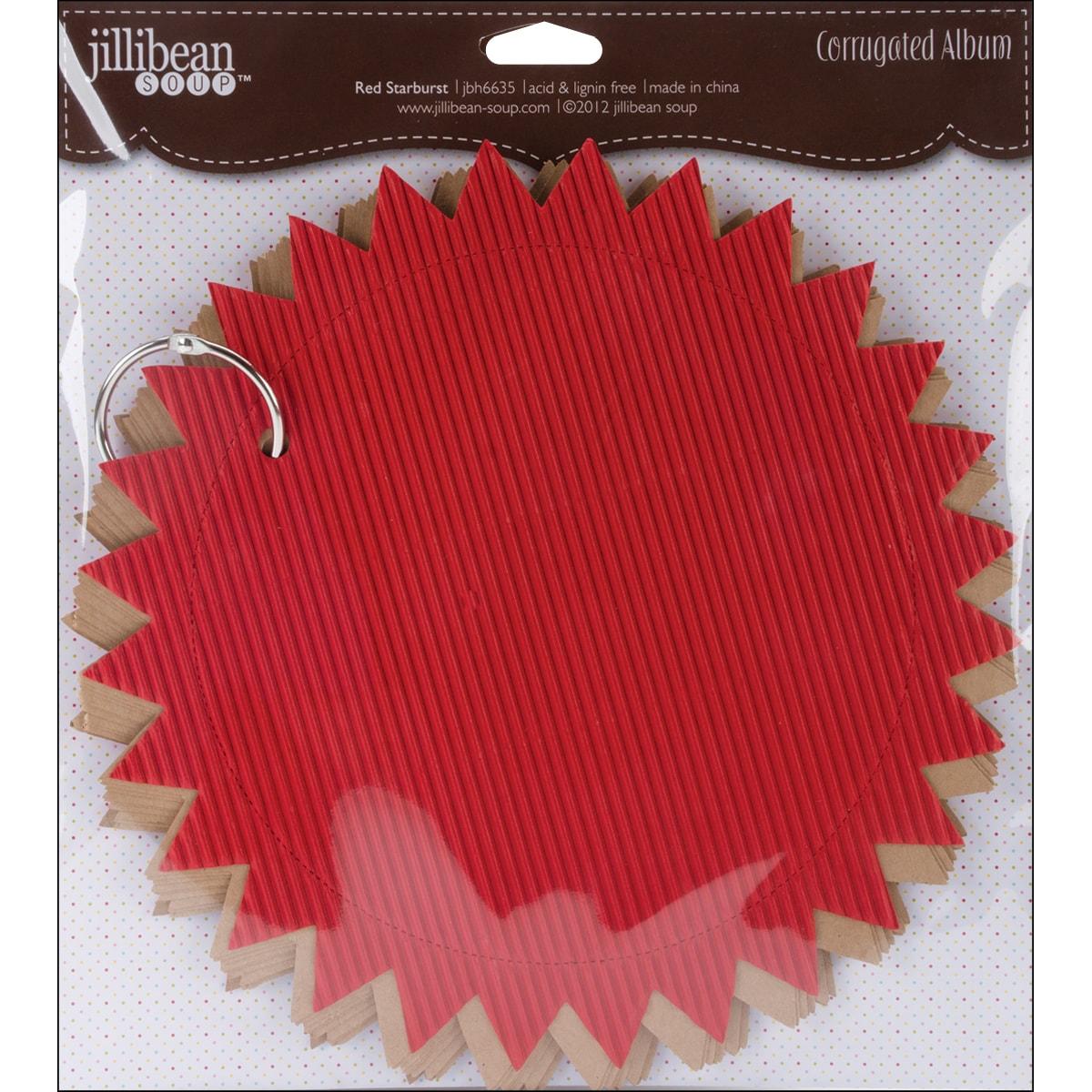 "Die-Cut 'Red Starburst' Corrugated Album 8.5"""