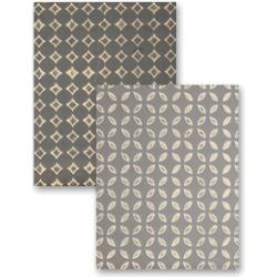 M-Bossabilities Reversible A2 Embossing Folder-Simplicity