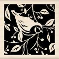 Inkadinkado 'Single Bird Square' Mounted Rubber Stamp