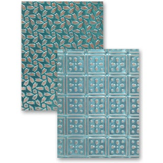 M-Bossabilities Reversible A4 Embossing Folder-Patchwork