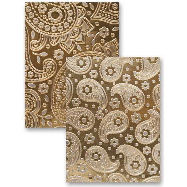M-Bossabilities Reversible A4 Embossing Folder-Paisley
