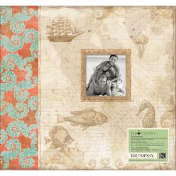 """Travel Postbound Album 12""""X12""""-With 10 Top-Loading Page Protectors"""