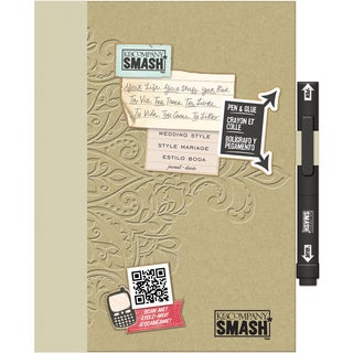 Paper Wedding-style SMASH Folio with Embossed Chipboard Cover