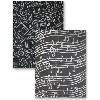 M-Bossabilities Reversible A4 Embossing Folder-Music