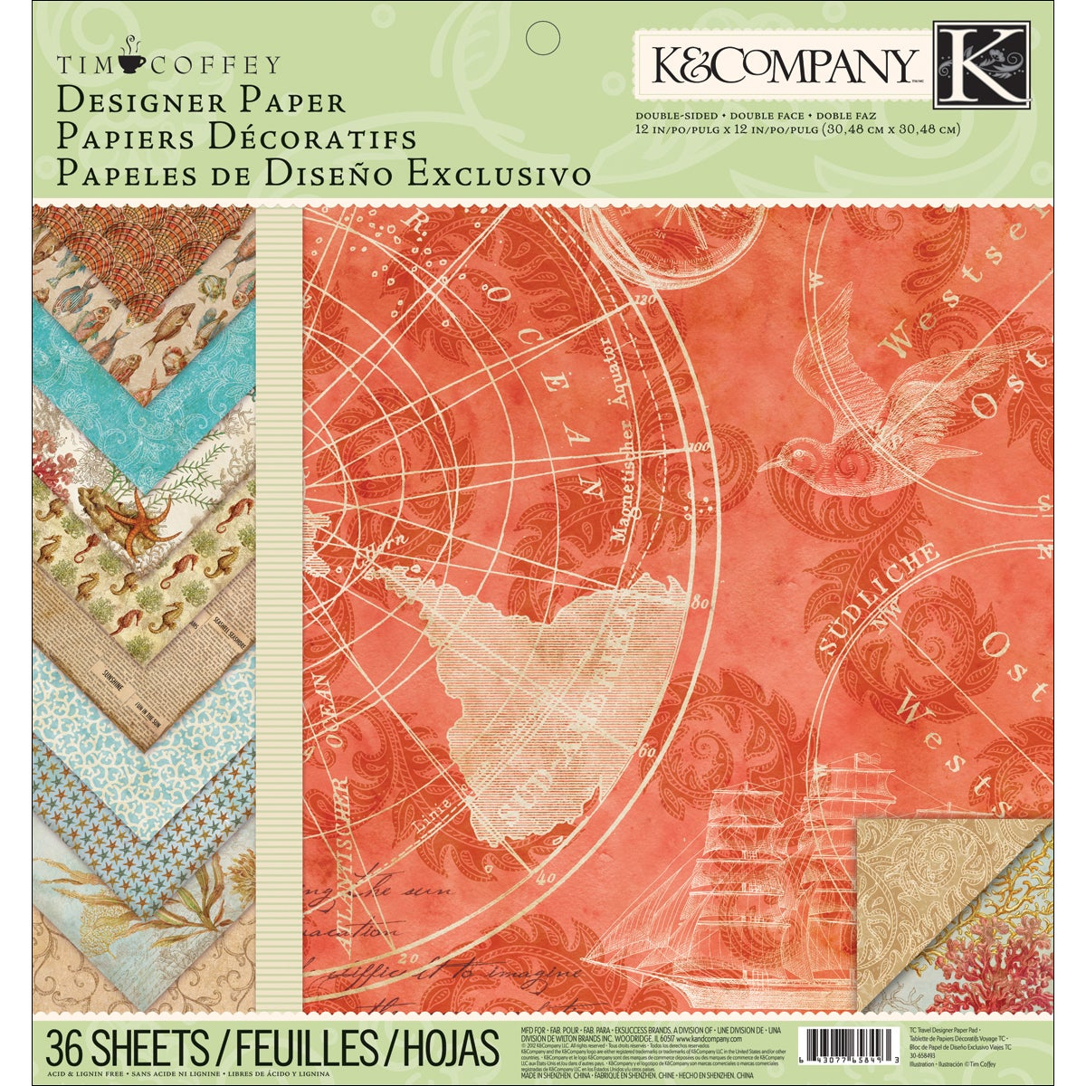 "K & COMPANY Travel Designer Double-Sided Paper Pad 12""X12in at Sears.com"