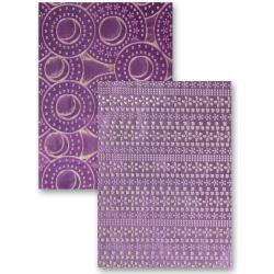 M-Bossabilities Reversible A4 Embossing Folder-Flower Fun