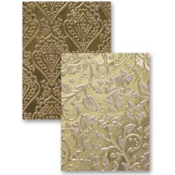 M-Bossabilities Reversible A2 Embossing Folder-Enchanted