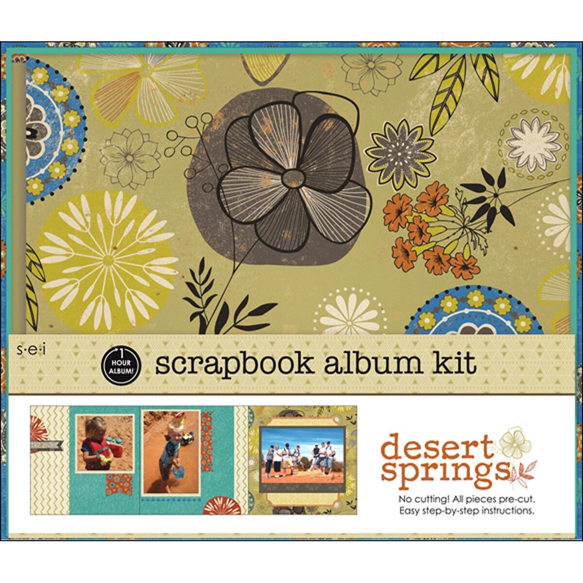 1 Hour Album Scrapbook Kit 8X8in-Desert Spring