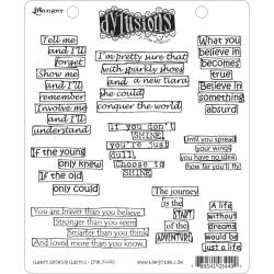 Dyan Reaveley's Dylusions Cling Stamp Collection-Quintessential Quotes