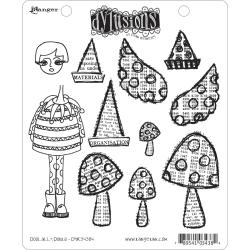 Dyan Reaveley's Dylusions Cling Stamp Collection-Doolally Dorris