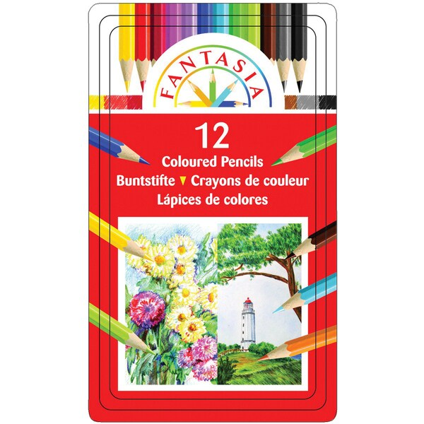 Fantasia Color Pencil Tin 12/Pkg