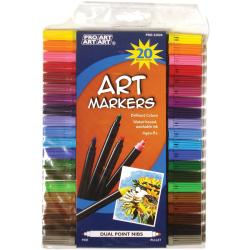 Pro Art Dual Point Art Marker Set 20/Pkg
